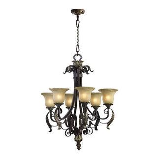 Quorum 6091-8-44 - Chandelier - 8 Light - Toasted Sienna Finish - Belmira Collection