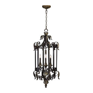 Quorum 6891-3-44 - Foyer Pendant - 3 Light - Toasted Sienna Finish