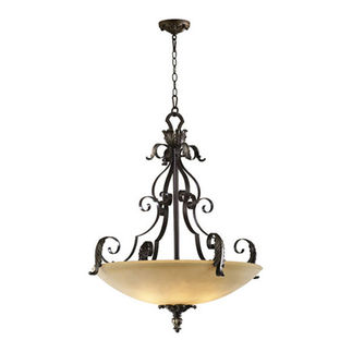 Quorum 8191-5-44 - Bowl Pendant - 5 Light - Toasted Sienna Finish