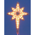4.8 ft. - Warm White - C7 LED - Hanging Garland Star of Bethlehem - 120 Volt