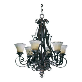 Quorum 6121-6-13 - Chandelier - 6 Light - Coffee Finish