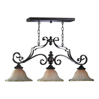 Quorum 6321-3-13 - Island Pendant - 3 Light - Coffee Finish