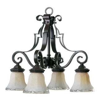 Quorum 6421-4-13 - Nook Pendant - 4 Light - Coffee Finish