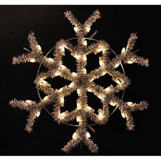 3 ft. - Warm White - C7 LED - Hanging Garland Snowflake - 120 Volt