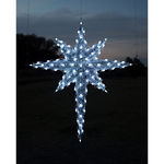 6.8 ft. - Cool White - C7 LED - Half Moravian Star (Front Only) - 120 Volt