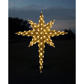 6.8 ft. - Warm White - C7 LED - Half Moravian Star (Front Only) - 120 Volt