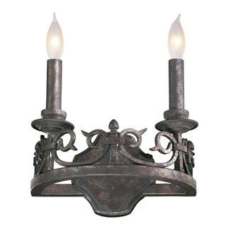 Quorum 5293-2-50 - Wall Sconce - 2 Light -  Spanish Silver Finish