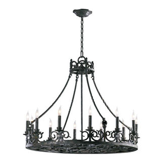 Quorum 6093-12-50 - Chandelier - 12 Light - Spanish Silver Finish