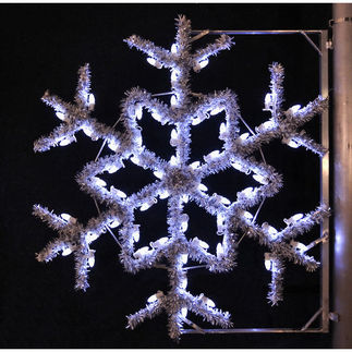 4 ft. - Cool White - C7 LED - Garland Snowflake Pole Decoration - 120 Volt