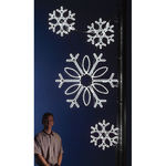 8 ft. - Cool White - LED Rope Light - Snowflake Cluster Pole Decoration - 120 Volt