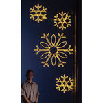 8 ft. - Warm White - LED Rope Light - Snowflake Cluster Pole Decoration - 120 Volt