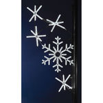 8 ft. - Cool White - LED Rope Light - Snowflake Cascade Pole Decoration - 120 Volt