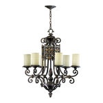 Quorum 6131-6-86 - Chandelier - 6 Light - Oiled Bronze Finish