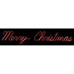 1.9 ft. x 11.8 ft. - Red - LED Rope Light - Merry Christmas Script Sign - 120 Volt