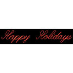1.9 ft. x 11.8 ft. - Red - LED Rope Light - Happy Holidays Script Sign - 120 Volt