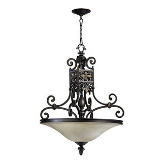 Quorum 8031-4-86 - Bowl Pendant - 4 Light - Oiled Bronze Finish