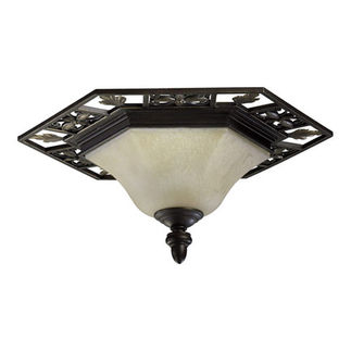 Quorum 3031-24-86 - Flush Mount Fixture - 2 Light - Oiled Bronze Finish