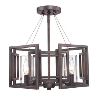 Golden Lighting 6068-SF GMT - Convertible Semi-Flush Mount
