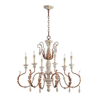 Quorum 6152-6-56 - Chandelier - 6 Light - Manchester Gray