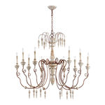 Quorum 6352-10-56 - Antique Chandelier - 10 Light - Machester Gray