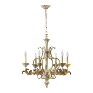 Quorum 6037-6-70 - Chandelier - 6 Light - Persian White