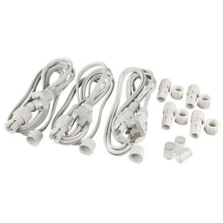 Incandescent - Accessory Kit for 200 ft. Rope Light - Includes (3) 6 ft. Power Cords, (4) Connectors, (3) End Caps - 3/8 in. - 2 Wire - FlexTec M1342