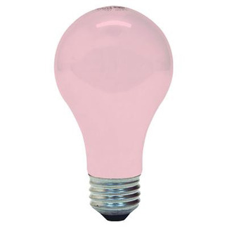 60 Watt - Soft Pink Ceramic - A19 - 120 Volt - 1,000 Life Hours - GE 97483