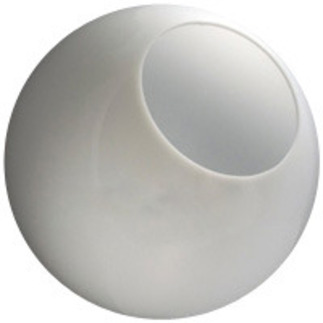 16 in. White Acrylic Globe - with 8 in. Neckless Opening