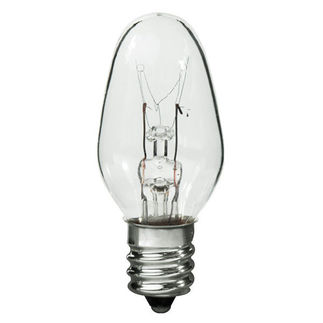 10 Watt - C7 - 120 Volt - 3,000 Life Hours - Candelabra Base - Incandescent Light Bulb - 10C7/CL/CAND/120-130V C7 Sign Bulb