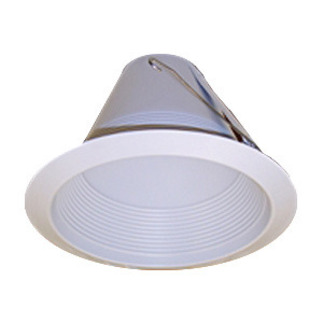 6 in. - White - Airtight Baffle Lensless Shower Cone - Premium Quality Brand PTM726W - Light Fixture Accessory