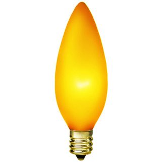 15 Watt - B10 - Luminescent Topaz Yellow - 130 Volt - Candelabra Base - Chandelier Decorative Light Bulb - Antique Light Bulb Co. L1887 Chandelier Light