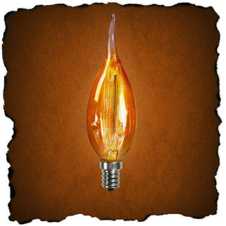 12.5 Watt - Golden Smoke - CA11 - Candelabra Base - 3,000 Life Hours - 120 Volt - Antique Light Bulb Co. L4085