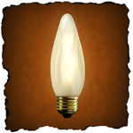30 Watt - F13 - Frost - 3,000 Life Hours - 120 Volt - Antique Light Bulb Co. L4084