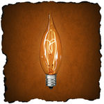 25 Watt - CA10 - Clear - Carbon Filament - Candelabra Base - 2,500 Life Hours - 120 Volt - Antique Light Bulb Co. L4070