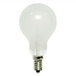 40 Watt - A15 - Frosted - 130 Volt - 1,500 Life Hours - Appliance and Ceiling Fan Bulb - Candelabra Base - PQB L2774