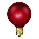 15 Watt - Ruby Luminescent Red - G16-1/2 - Candelabra Base - 130 Volt - 1,500 Life Hours - Amusement Light Bulb - Antique Light Bulb Co. L1898