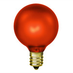 15 Watt - Luminescent Amber - G16-1/2 - Candelabra Base - 130 Volt - 1,500 Life Hours - Amusement Light Bulb - Antique Light Bulb Co.  L1899