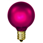 15 Watt - Amethyst Luminescent Magenta - G16-1/2 - Candelabra Base - 130 Volt - 1,500 Life Hours - Amusement Light Bulb - Antique Light Bulb Co.  L1900