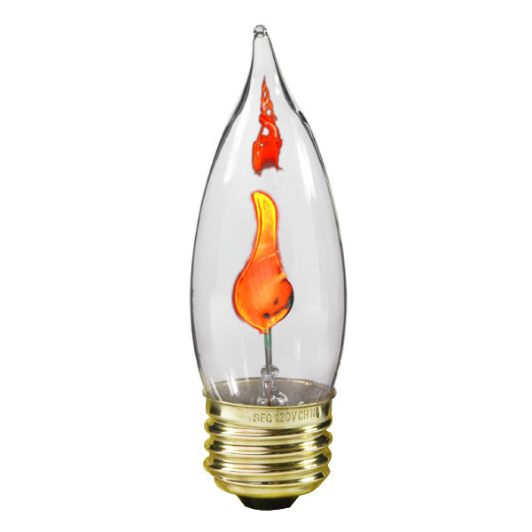 Bulbrite 410803 3 Watt Flicker Flame Bulb