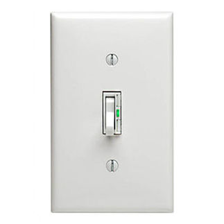 Leviton ToggleTouch TGI06-1LW - Single Pole/3-Way - Preset Digital Incandescent Dimmer - 600 Watt - White