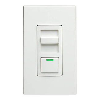 Leviton IllumaTech IPX12-70Z - Single Pole/3-Way - Preset Electro-Mechanical Electronic Mark 10 Powerline Fluorescent Slide Dimmer - 1200VA - White