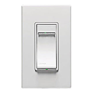 Leviton Vizia+ VPH08-1LZ - Single Pole/3-Way - Fluorescent Dimmer for Hi-Lume/Eco-10 Ballasts with LED Locator and Brightness Display - White