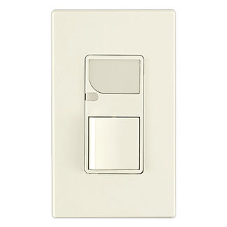 Leviton 6526-T - Combination Decora Switch with LED Guide Light - Light Almond