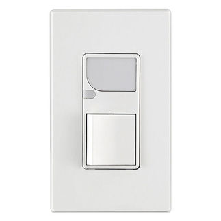 Leviton 6526-W - Combination Decora Switch with LED Guide Light - White