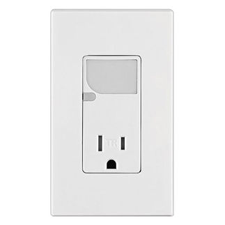 Leviton T6525-W - Combination Decora Tamper Resistant Receptacle with LED Guide Light - White