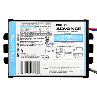 100 Watt - Electrical Pulse Start Metal Halide Ballast - 120/277 Volt - Advance IMH100DLFM