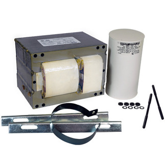 Howard M1000-71C-214-CK - 1000 Watt - Metal Halide Ballast - 4 Tap - ANSI M47 - Power Factor 90% - Max Temp Rating 90 deg C. - Includes Oil Filled Capacitor and Bracket Kit