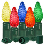 Multi-Color - 25 LED Bulbs - C6 Shape - Length 13 ft. - Bulb Spacing 6 in. - Featuring the Diogen Quick Connection System