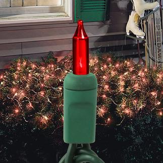 Red - 120 Volt - 150 Bulbs - 4 ft. x 6 ft. - Green Wire - Christmas Net Lights - HLS FLAT150Red - 120 VoltG