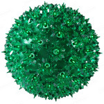 (100 Bulbs) Green - 120 Volt - Christmas Starlight Sphere - 7.5 in. Diameter - GKI Bethlehem 724704